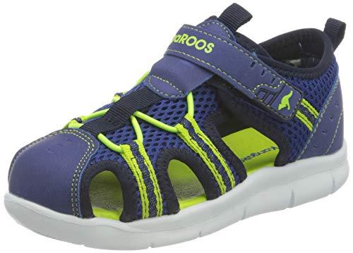 KangaROOS Unisex-Kinder K-Droll EV Sneaker, Navy/Lime 4800, 25 EU