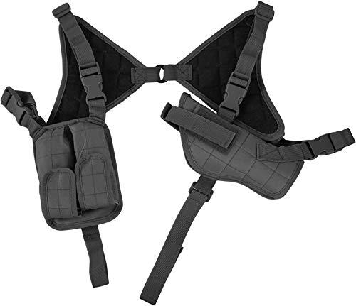 normani Schulterholster Pistolenholster mit Cordura®, verstellbar mit Magazintasche Farbe Schwarz