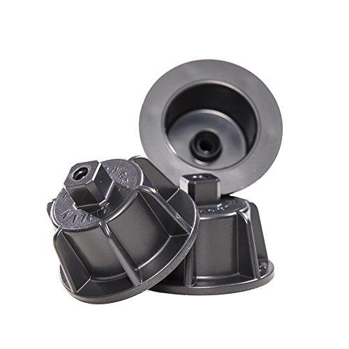 Brunoplast NIVIFIX 150 Stück wiederverwendbare Zughauben PRO schwarz im Eimer für Fliesenstärke 3 - 12 mm, für Fliesen Platten Nivelliersystem zum Verlegen von Wand- und Boden-Fliesen, Verlegehilfe System aus Kunststoff