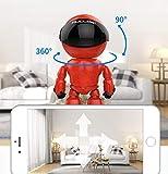 TKFY Cámara de vigilancia de visión Nocturna WiFi Monitor Remoto Red inalámbrica de Dibujos Animados Robot de Seguridad para el hogar cámara con grabación Zoom Inteligente