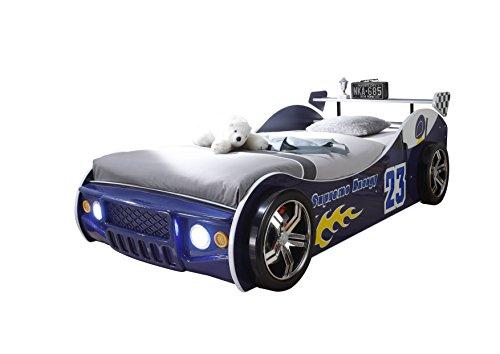 Energy Autobett inkl. LED Beleuchtung, Blau, 90 x 200 cm