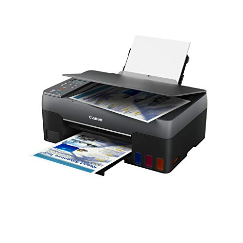 Canon PIXMA G3560 Drucker MegaTank Multifunktionsgerät nachfüllbar DIN A4 (Scanner, Kopierer, Fotodrucker, Farbtintenstrahldrucker, USB, WLAN, Print App, Cloud, LC Display, Duplexdruck), schwarz