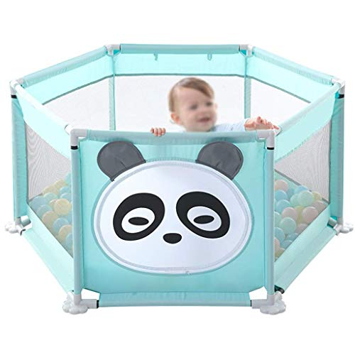 Unknow Tissu Infant Toddler Fence Oxford Cloth Grand Espace/Facile à Installer/Facile à Transporter Baby Playpen Guardrail Kids Room Decor Hauteur 68cm Taille
