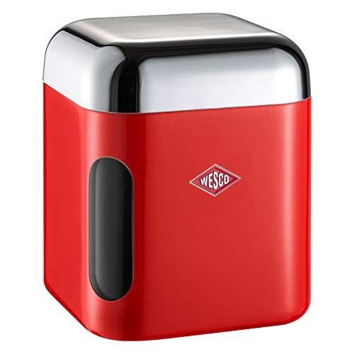Wesco eckig Vorratsdose, Kunststoff, rot, 11 x 11 x 13 cm