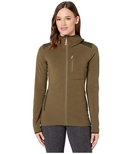 FJÄLLRÄVEN Damen Sweatshirt Keb Fleece Hoodie W, Laurel Green-Deep Forest, S, F89765