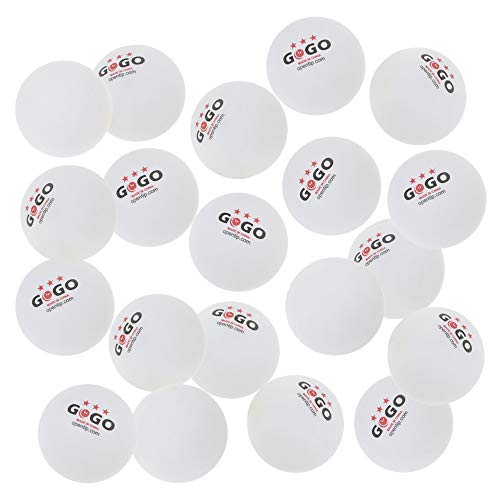 Discover Bargain GOGO 3 Star Table Tennis Balls 40+ ABS Plastic Ping Pong Balls (50-500 Pieces)-Whit...