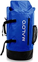 Malo'o Waterproof Heavy Duty Backpack Dry Bags for Kayaking, Camping, Beach, Fishing, Hiking Daypack - Dry Pack Travel Gear - 45L (Dark Blue)