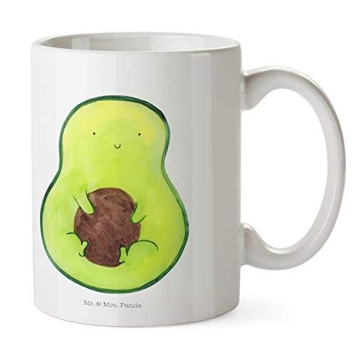 Mr. & Mrs. Panda Tee, Büro, Tasse Avocado mit Kern - Farbe Weiß