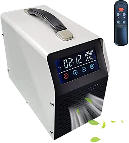 Generador de ozono de pantalla táctil Purificador de aire industrial O3 con control remoto Desodorizador comercial Esterilizador para habitaciones grandes Plug in UK Black-40000mg / h-blanco_2000