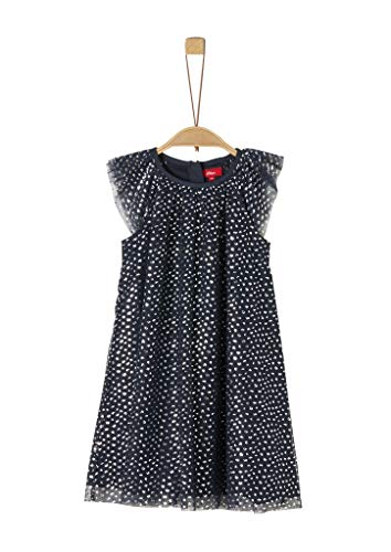 s.Oliver RED LABEL Mädchen Mesh-Kleid mit Musterprint dark blue AOP 98.REG