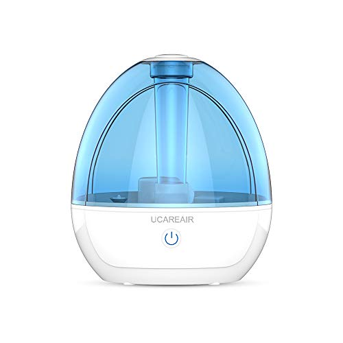 Cool Mist Humidifier – Humidifier for Bedroom, Quiet Mist Humidifier, High Low Mist, Waterless Auto-off, Night Light, Baby Kids Nursery, 2L Tank, Filterless Humidifiers for home office, ETL Approved