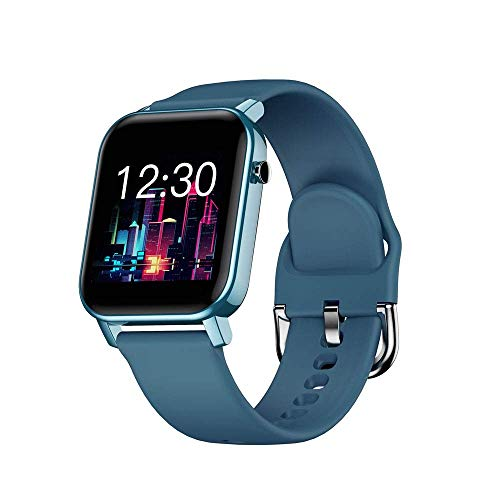 OH Pulsera Inteligente 1,4 Pulgadas Pantalla de Color Completo de Pantalla Completa Reloj Bluetooth Multi-Deportes Ip68 Flip de Muñeca a Prueba de Agua, Desbloqueo Táctil Moda/Azu