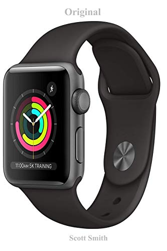 Original: Apple Watch Series 3 (GPS, 38mm) - Space Gray Aluminum Case with Black Sport Band-&-Guide