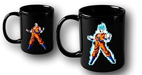 Magic Mugs DBZ - Taza de café con diseño de Goku Super Saiyan, color azul