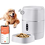DoHonest Food Dispenser Automatic Dog Cat Feeder, 2.4G Wi-Fi Enabled APP with Voice Recorder for iOS and Android, Programmable Timer for up to 6 Meals per Day 6L Food Capacity, Dual Power Mode