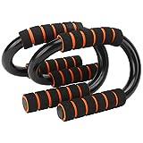 Datee Soporte Push Up, 1 par/Set S Tipo Push Up Stand Body Building Fitness Barras de Empuje con empuñaduras Acolchadas de Espuma