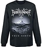 Borknagar True North Homme T-Shirt Manches Longues Noir L, 100% Coton, Regular/Coupe Standard