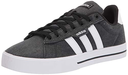 adidas Men's Daily 3.0 Skate Shoe, Black/White/Black, 12