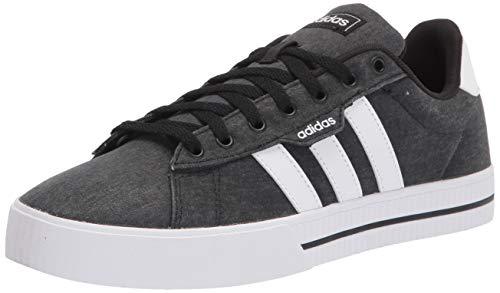 adidas Men's Daily 3.0 Skate Shoe, Black/White/Black, 13