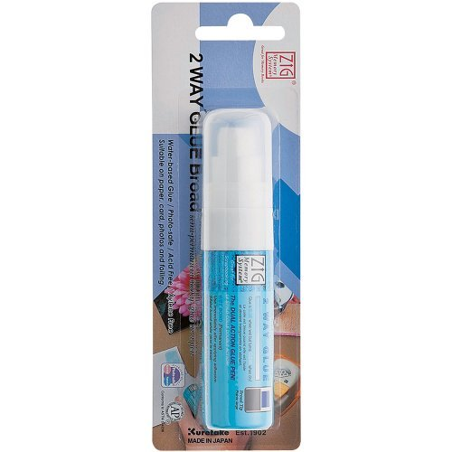 Zig Memory System Two Way Glue Pen, Carded, Jumbo Tip by Zig