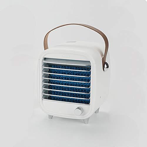 LIPETLI Aire Acondicionado portátil Pequeño refrigerador de Aire de Escritorio Box Incorporado Box de Hielo Ventilador de enfriamiento Viento Fuerte Noche Luz de luz