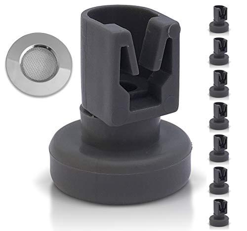 Geschirrspüler Oberkorb-Rollen: 8 Stück Korbrollen für die Spülmaschine - Ersatzteile geeignet für AEG, Privileg, Zanussi, Juno, Electrolux, Ikea etc. + ein gepflanzter Baum