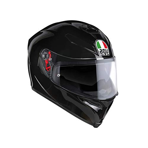 AGV 0041A4MY_002_ML K5 S Solid Casco Moto Integral, Negro, ML