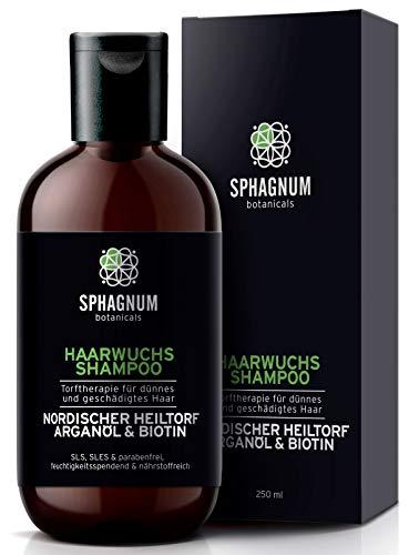 Haarausfall Frau Shampoo mit Heiltorf, Argan Öl und Biotin – 100% frei von Sulfaten, Parabenen. Effektive Behandlung von dünnem & geschädigtem Haar. Das beste Frauen Shampoo für Haarwachstum