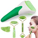EAONE 4 in 1 Ice Roller Jade Roller Eyes Facial Massage Kits Skin Roller for Face Eyeball Neck...