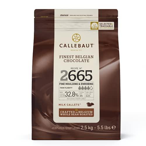 CALLEBAUT Receipe No. 2665 - Kuvertüre Callets, Vollmich Schokolade, 32,8 % Kakao 1 x 2500 G