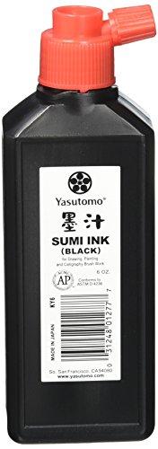 Yasutomo KY6 Sumi Ink, 6 oz, Black
