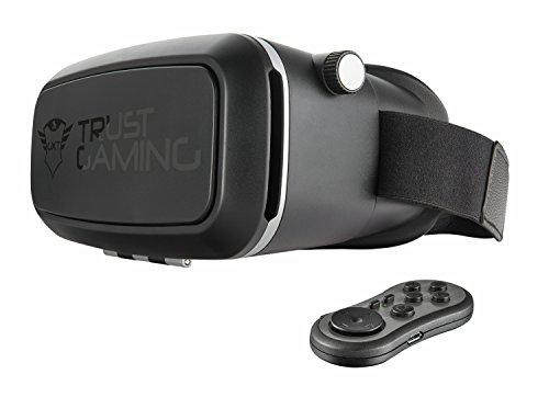 Trust Gaming GXT 720 - Gafas de realidad virtual 3D para smartphone con gamepad bluetooth, negro