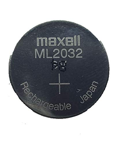 PCRepair 2 pc Maxell ML2032 ML 2032 3v Rechargeable Lithium Battery