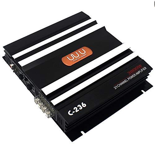 Amplificatori del suono,Entweg Amplificatore per auto da 90 W Multicanale Potente audio per auto Subwoofer Lega di alluminio Potenza per veicolo Amplificatore stereo Amplificatori audio per auto