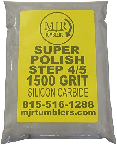 MJR Tumblers 2 LB Super Polish 1500 Silicon Carbide Rock Refill Grit Abrasive Media Final Step USA