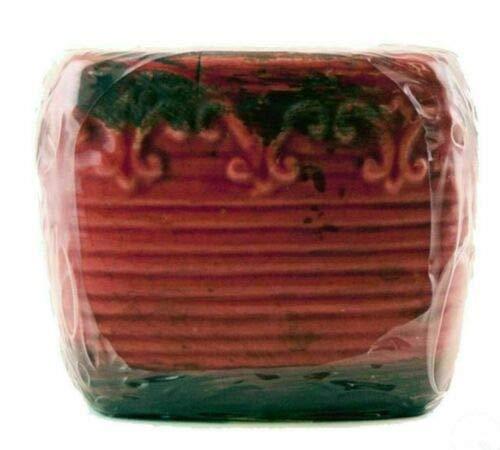 Swan Creek Scented Warm Cinnamon Bun Sq Vintage Pottery Pot, 45+ hours burn time