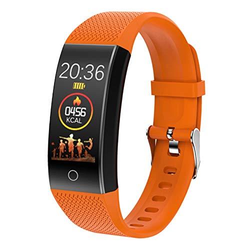 XUEMEI Braceletes Inteligentes IP68 IP68 Impermeable Ritmo Cardíaco Monitor Monitor Smartband Fitness Health Reloj De Pulsera (Color : Orange)
