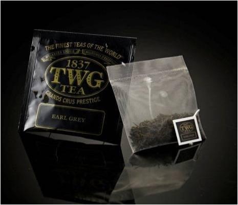 TWG Singapore - The Finest Teas of the World - EARL GREY - Hauptteil 100 Seide Teebeutel