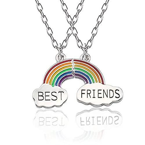 Miss-shop Collar de la Amistad,Collar Best Friends Forever 2PCS Collares de Aleación para Niños, Niñas, Mejores Amigos, Amantes y Parejas
