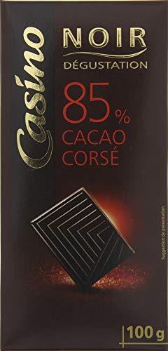 CASINO Dégustation Tablette de Chocolat Noir 85% de Cacao