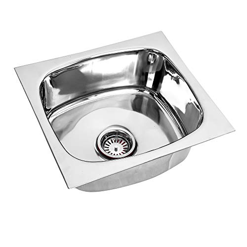RENVOX Kitchen Sink 18x16x9 Inches Glossy Finish Stainless Steel Sink Premium Range || Kitchen Accessories || Kitchen Sink Stainless Steel Single Bowl sink