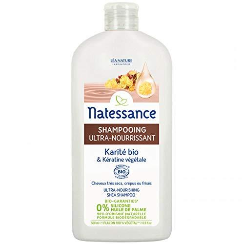 Natessance Shampooing Ultra-Nourrissant Karité Bio et Kératine Végétale 500 ml