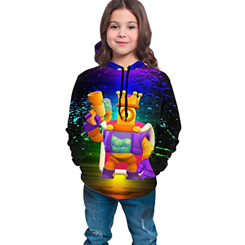Fashion Sweaters Bouncy Bullets Rico Fans DIY Hoodie with Hats Packets Coat Sweatshirts for Young Girls and Boys 14-16 Years