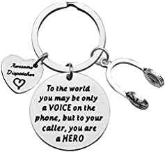 Ciyumu Dispatcher Gift EMT Emergency Dispatcher Keychain 911 Operator Gift Funny Gift for 911 Dispatcher Appreciation Keychain Thank You Gift for Awesome Dispatcher Retirement Gift Dispatcher Jewelry, Silver, Small