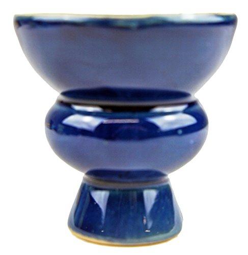 Tabaktopf für Shisha - Höhe ca. 5,8 cm - Farbe Blau - Wasserpfeife Kopf Ersatz Tonkopf aus Keramik Neu (Blau)