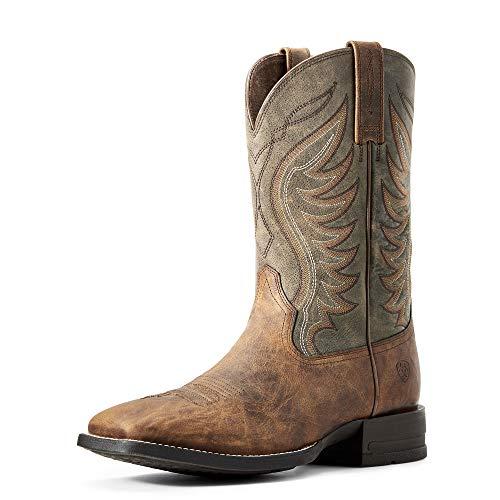 ARIAT Men's Amos Western Boot Sorrel Crunch Size 7.5 D/Medium Us