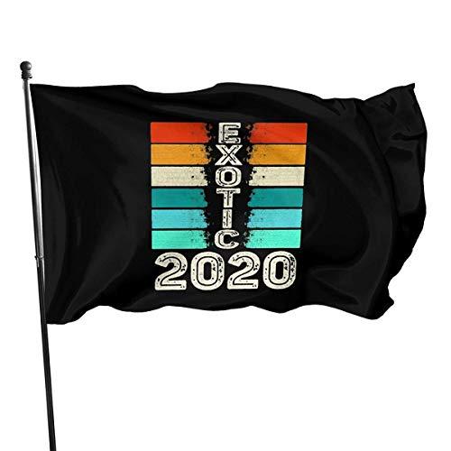 XCNGG Bandera de poliéster para Exteriores de 3 x 5 pies, Joe Exotic Tiger King para el Presidente 2020, Colores Vivos y Resistente a la decoloración UV