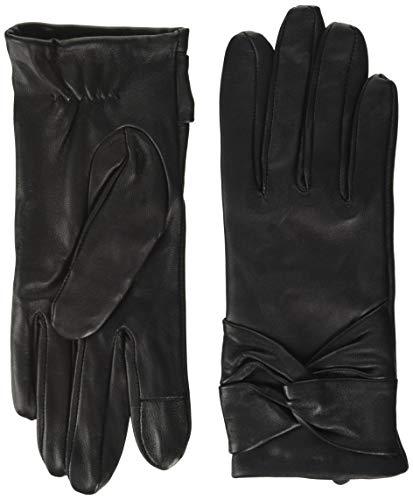 PIECES Damen PCSILLE LEATHER GLOVES Handschuhe, Black, M