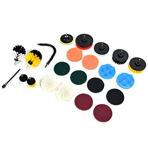 Kit de limpieza de cepillo de taladro, plástico duradero + nailon + esponja Kit de cepillo de limpieza de taladro que ahorra tiempo para limpieza del hogar
