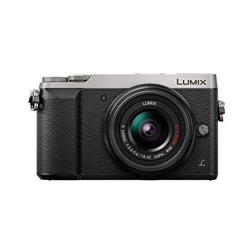 Panasonic Lumix GX80N | Appareil Photo Hybride Compact + Objectif Lumix 14-42mm (Capteur 4 3 16MP, Double stabilisation, Viseur, Écran inclin. tact., AF DFD, Vidéo 4K) Silver – Version Française